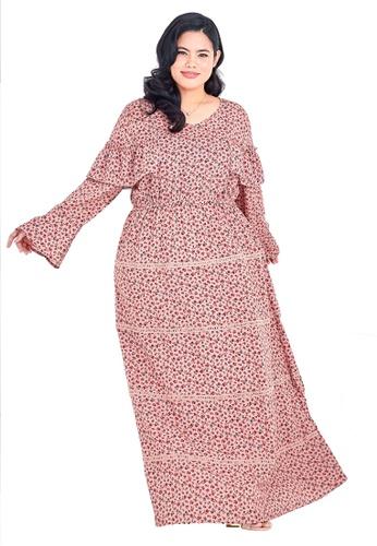 CURVA FABULOUS pink Ms Anna Bohemian Maxi CD8E5AA77BB5F9GS_1