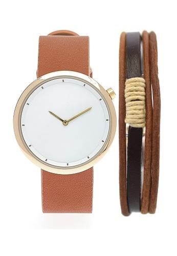 LEUPP brown Mori Watch And Bracelet Pack D9BFCACF9C892BGS_1