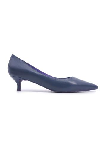Flatss & Heelss by Rad Russel 藍色 Classic Kitten Heels - Blue 9B078SHFA1E8F4GS_1