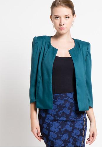 Raspberry blue Sivia Long Sleeve Blazer RA572AA53QYGID_1