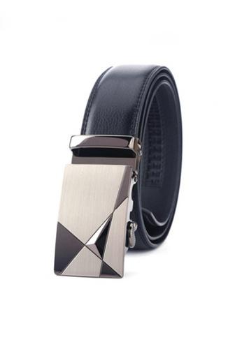 Twenty Eight Shoes black VANSA Fashion Leather Automatic Buckle Belt  VAM-Bt027 23E2CAC3D8574EGS_1