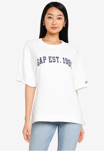GAP white Oversize Printed T-Shirt 05D66AA790C18FGS_1