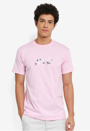 River Island pink Graphic Printed Tee F2DE3AAF83ED53GS_1