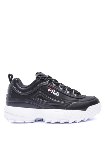 FILA black DISRUPTOR II Leather Shoes E3F14SH4F30665GS_1