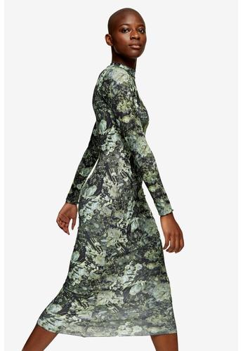 TOPSHOP green Green Jersey Midi Dress 9A548AA481A269GS_1
