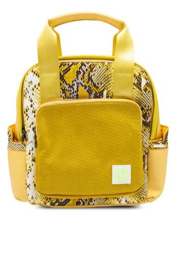 Desigual yellow Mini Reptile Backpack DCDDFAC8B009AEGS_1