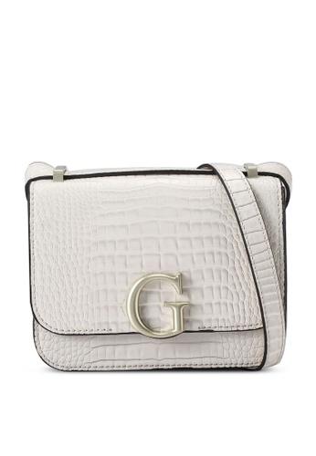 Guess beige Corily Convertible Crossbody Flap Bag 8BCEEAC530833AGS_1