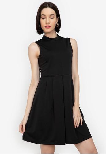 ZALORA WORK black Mock Neck Sleeveless Dress 4A173AAC687836GS_1