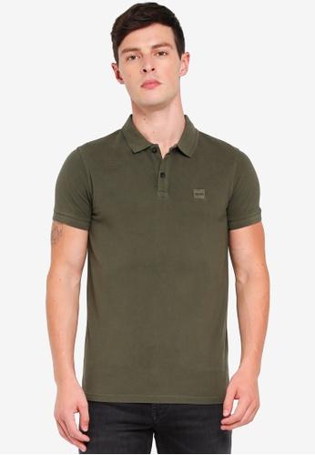 BOSS 綠色 短袖POLO衫 8DD65AA340E589GS_1