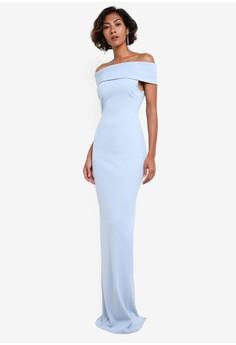 【ZALORA】 Multi Neckline Maxi Dress