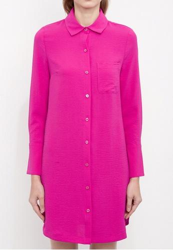 Dkny red DKNY Women Roll Tab Shirt Dress 65F9DAA40C239CGS_1
