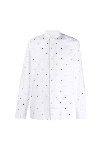 Kenzo white Kenzo Multi Eye Shirt in White 9AF74AA2E20182GS_1