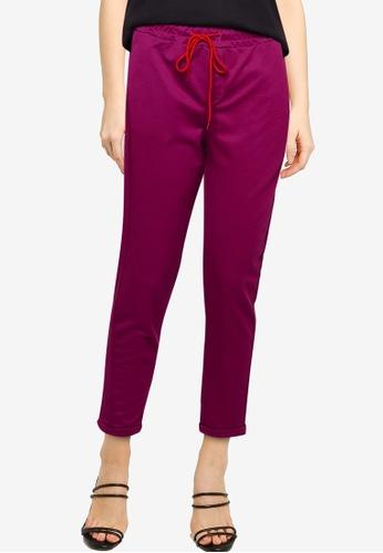 UniqTee purple French Terry Jogger Pants E0A8DAAC183862GS_1