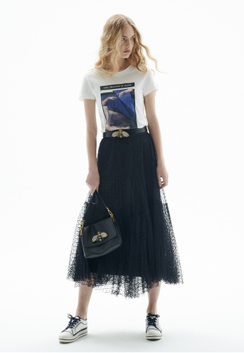 iROO black Layered Tulle Skirt 48160AA04924EEGS_1