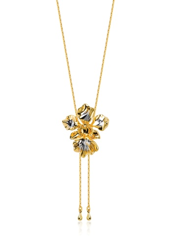 RISIS multi RISIS 18K Gold and Rhodium Plated Vanda Miss Joaquim Orchid Slider 8538EAC68458A8GS_1