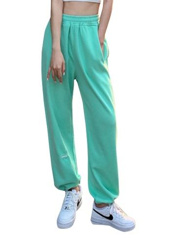Zafiti green Women's Drawstring Waist Ankles-tied Thin Cotton Pant - Green 27073AA6974C26GS_1