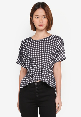 ZALORA multi Crossed Ruffles Front Top 93E0BAA6C0A056GS_1