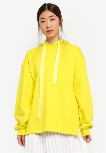 Stylenanda yellow Basic Hoodie D5555AA22526A0GS_1