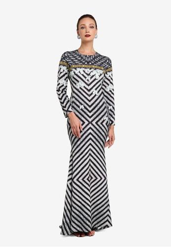 FK by Farah Khan multi Salma Long Dress CF412AA574778EGS_1