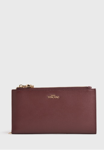 Tocco Toscano red Fel Long Wallet (Burgundy) 6243CACFC72C30GS_1