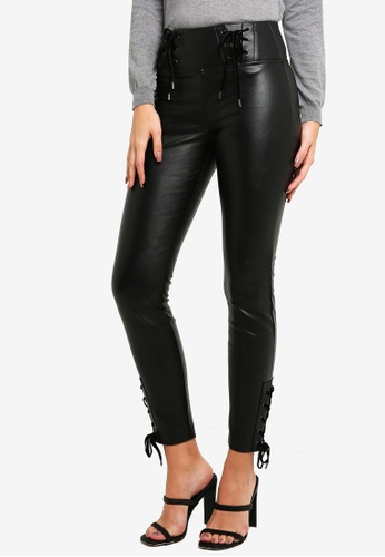 Guess black High-Rise Faux-Leather Pants 1E787AA31F8250GS_1