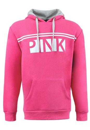 Universal Traveller pink Universal Traveller Unisex Hoodie Sweater - FJ 6218 UN858AA0RJ35MY_1