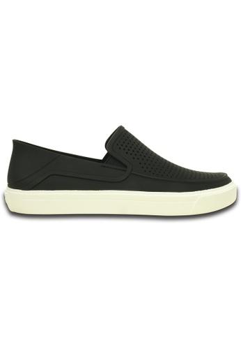 Crocs black Men's CitiLane Roka Slip-on Blk/Whi CB5CCSH245A9AAGS_1