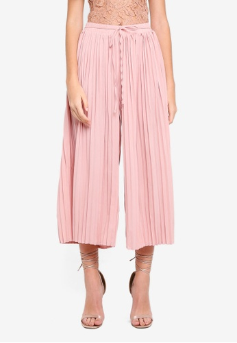 MISSGUIDED beige Pleated Culottes 19751AAF00BF1BGS_1