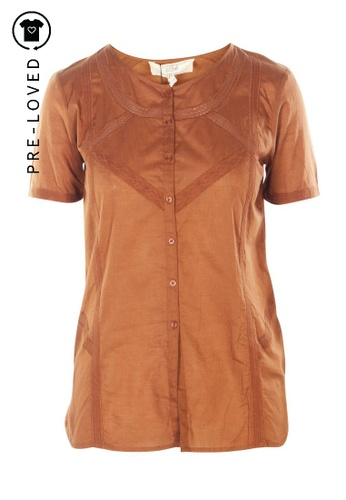 Athé Vanessa Bruno brown Pre-Loved athe vanessa bruno Brown Short Sleeved Shirt 31EE0AAFBAF885GS_1