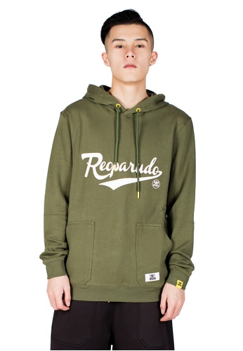 Reoparudo green RPD Reflective Signature Printed Hoodie (Army Green) RE413AA0GSZ3SG_1