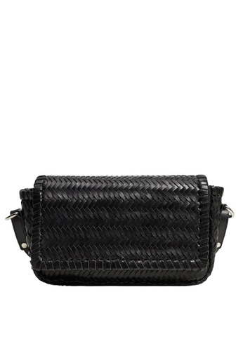 Violeta by MANGO black Braided Leather Shoulder Bag 9E96DACE9AE541GS_1
