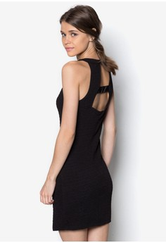 Textured Cut In Fitted Dress