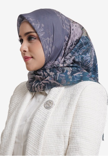 Buttonscarves grey Buttonscarves The Farsha Voile Square Stone 37098AAF6D3D7AGS_1