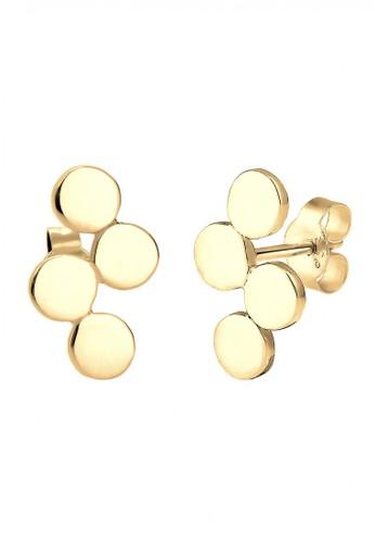 Elli Germany gold Perhiasan Wanita Perak Asli-Silver Geo Circle Minimalis Emas E57BBACF0CE272GS_1