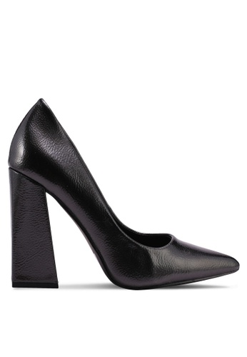 MISSGUIDED grey Flared Point Heel Court Heels 8C6FFSHEE47AB4GS_1