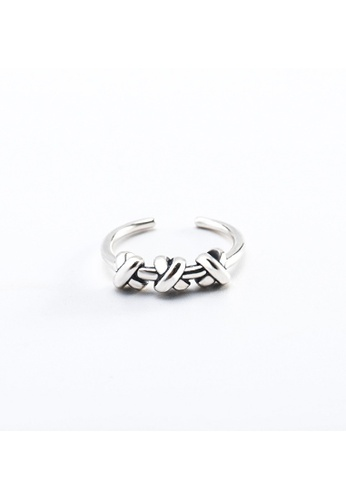 A-Excellence silver Premium S925 Sliver Geometric Ring 9E47AAC0EABB04GS_1