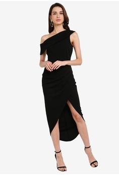 9ef35ba4e Goddiva Drop Sleeve Wrap Maxi Dress S$ 83.90. Sizes 8 10 12 14