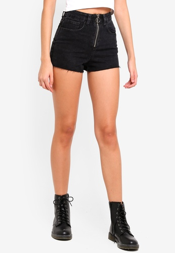 Factorie black Zip Mom Shorts BF050AAF7B025DGS_1