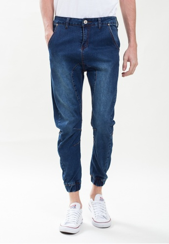 Drum blue Carrot-Cut Jeans Washed Blue DR425AA0S50ZMY_1