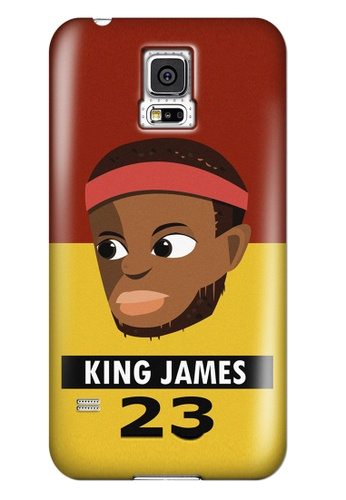 Wonder Cover black and brown and red and yellow and gold King James Matte Hard Case for Samsung Galaxy S5 WO617AC81AIWPH_1