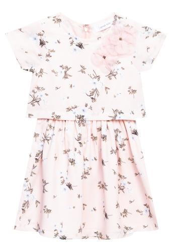 Great Kids multi Roundneck Short Sleeves Floral Dress 4EBC3KAF9A8593GS_1