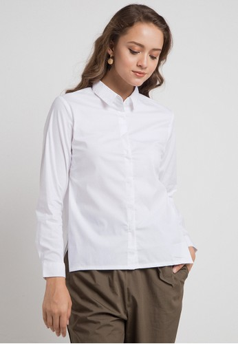 Logo Jeans white and multi Genevie Shirt F0F9DAAAD51F94GS_1
