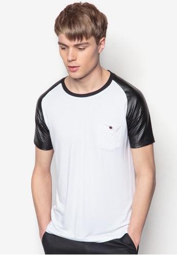 拉克蘭拼袖TEE, 服飾,esprit 包 素色T恤