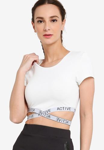 ZALORA ACTIVE white Crop T-Shirt A1C5DAA4E7AD51GS_1