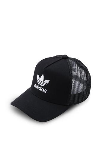3891c941 adidas black adidas originals af trefoil trucker cap B1B43ACD36EB56GS_1