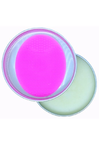Kora pink KORA Brush Soap 2in1 Include Pad for cleaning your Makeup Brushes and Sponge deeply 6F0B2BEAA9221AGS_1