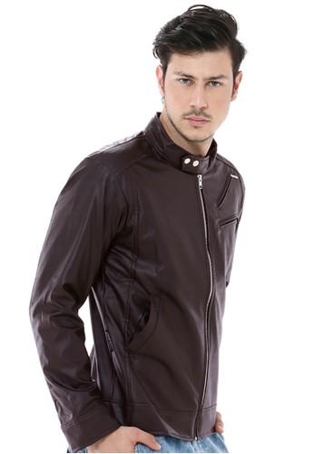 Crows Denim brown Crows Denim - Leather Jacket Ryu Style CR199AA23UKUID 1 73fdc455f1