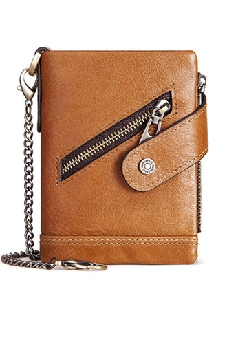 Twenty Eight Shoes Vintage Genuine Leather RFID Security Trifold Wallet BP930 9F2FBAC7F653E1GS_1