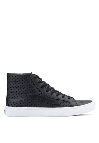VANS black and white SK8-Hi Slim Perf Stars Sneakers VA142SH17EJYMY_1