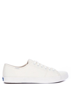 e6c3cc1b21 Keds white Kickstart Iridescent Canvas Sneakers AE7ADSH89B622DGS 1